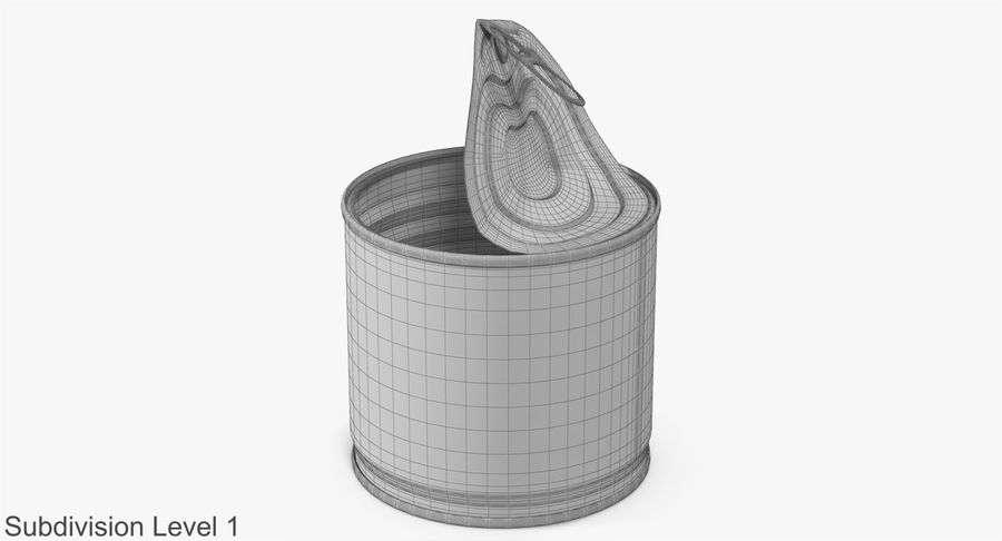 Tin Can Open 2 royalty-free 3d model - Preview no. 16
