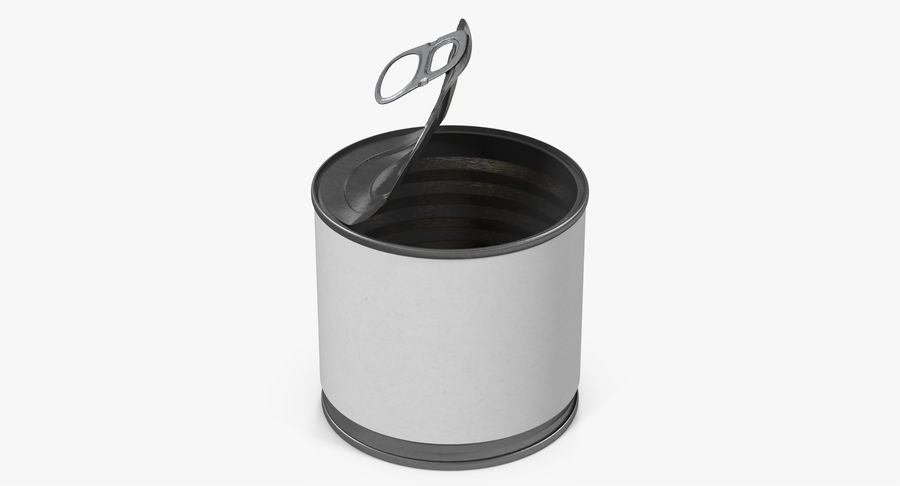 Tin Can Open 2 royalty-free 3d model - Preview no. 5