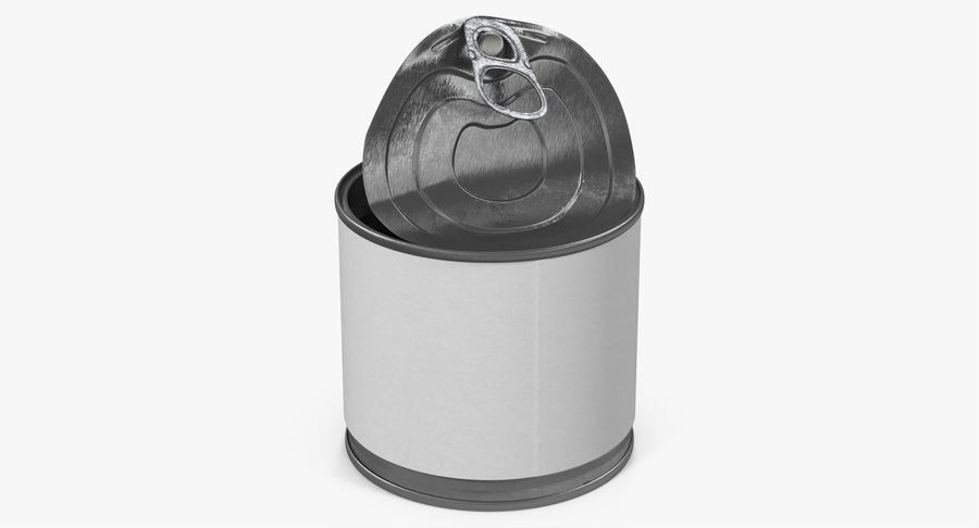 Tin Can Open 2 royalty-free 3d model - Preview no. 14