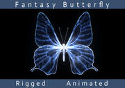 Mariposa de la fantasía modelo 3d