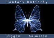 Fantasie-Schmetterling 3d model