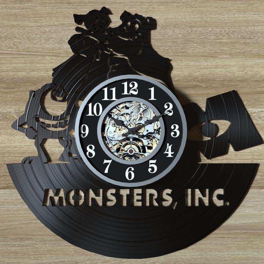 vinyl record clock royalty-free 3d model - Preview no. 9