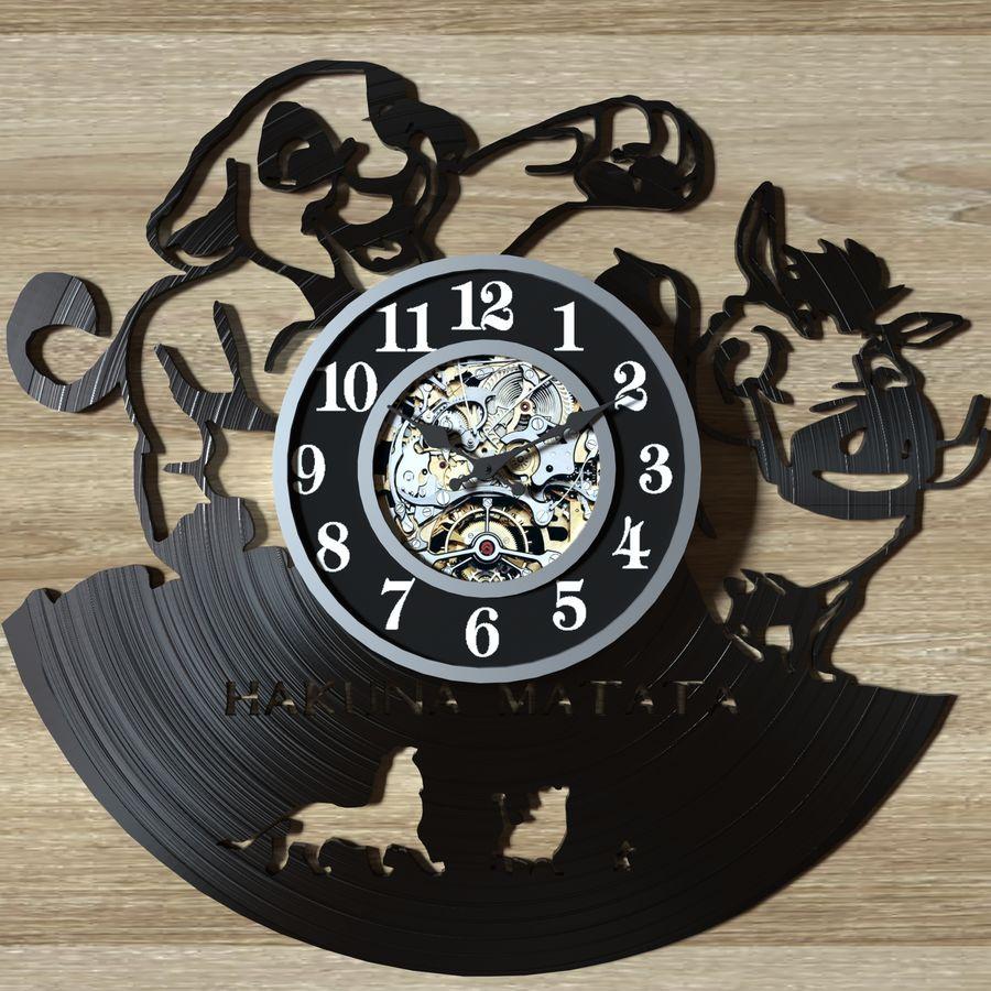 vinyl record clock royalty-free 3d model - Preview no. 4