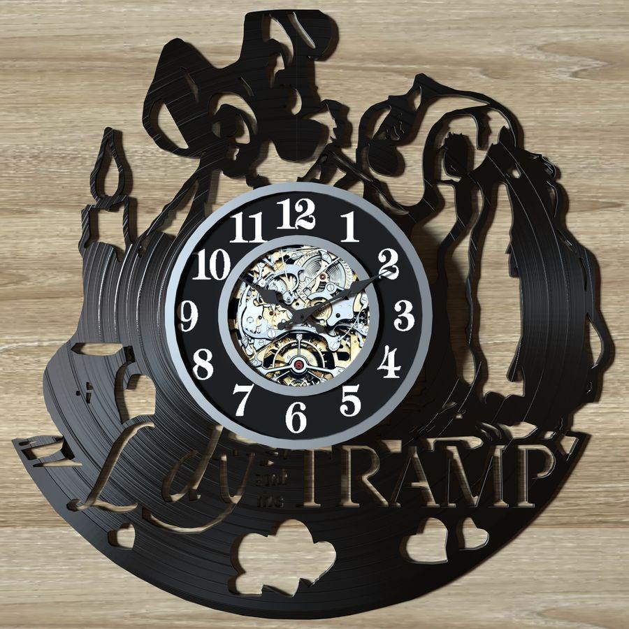 vinyl record clock royalty-free 3d model - Preview no. 7