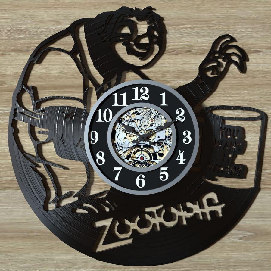 vinyl record clock royalty-free 3d model - Preview no. 10