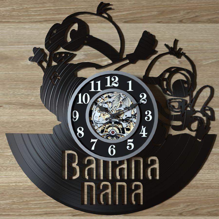 vinyl record clock royalty-free 3d model - Preview no. 5