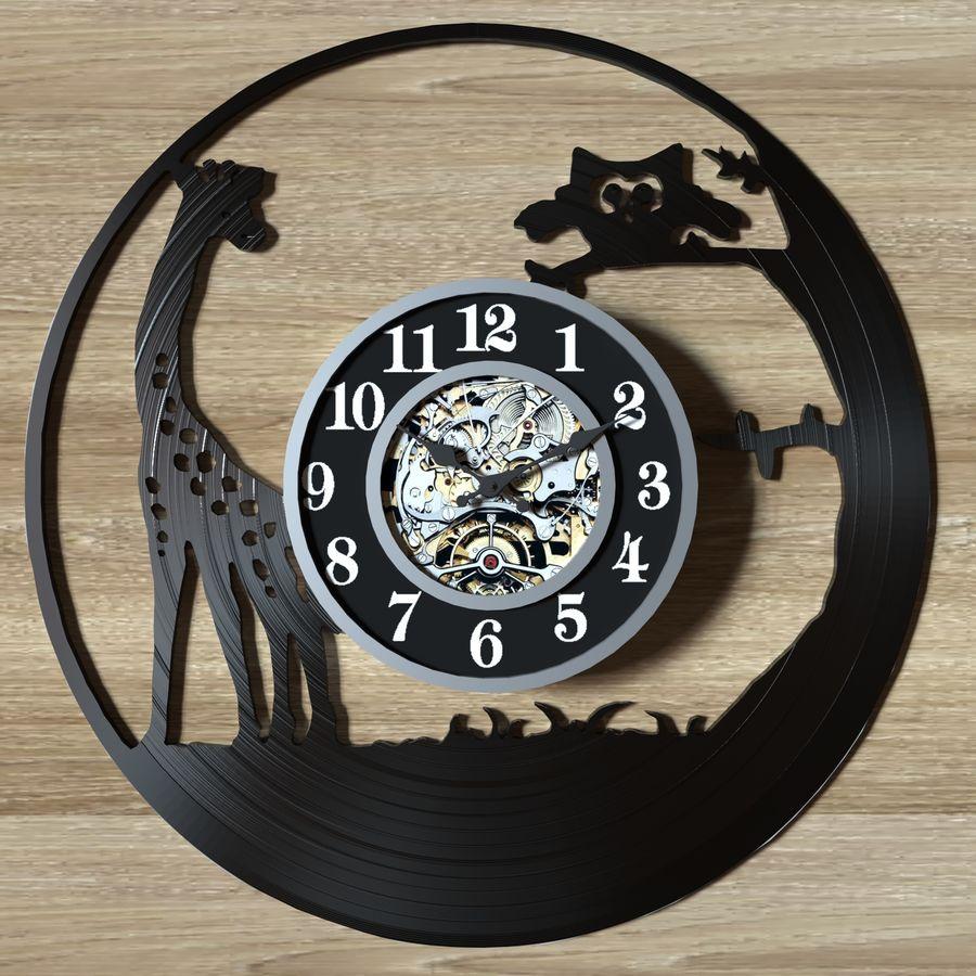 vinyl record clock royalty-free 3d model - Preview no. 8