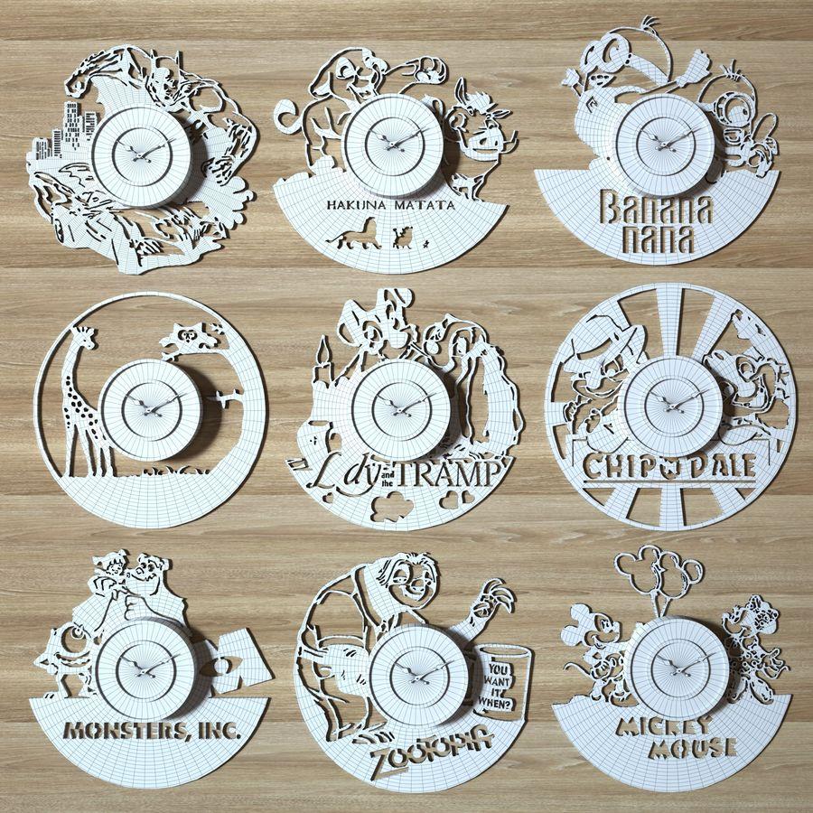vinyl record clock royalty-free 3d model - Preview no. 2