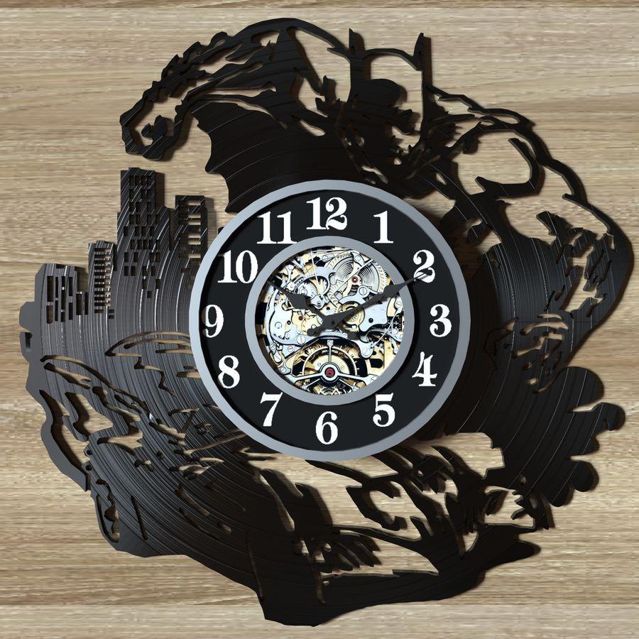 vinyl record clock royalty-free 3d model - Preview no. 3