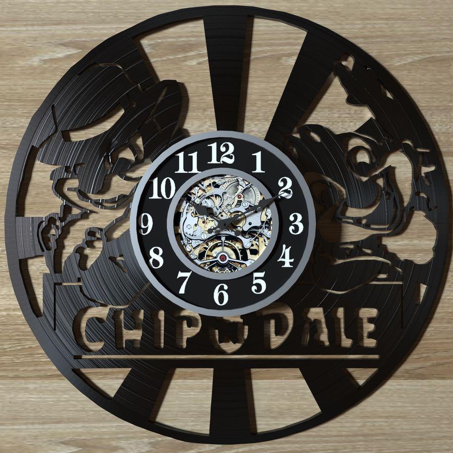 vinyl record clock royalty-free 3d model - Preview no. 6