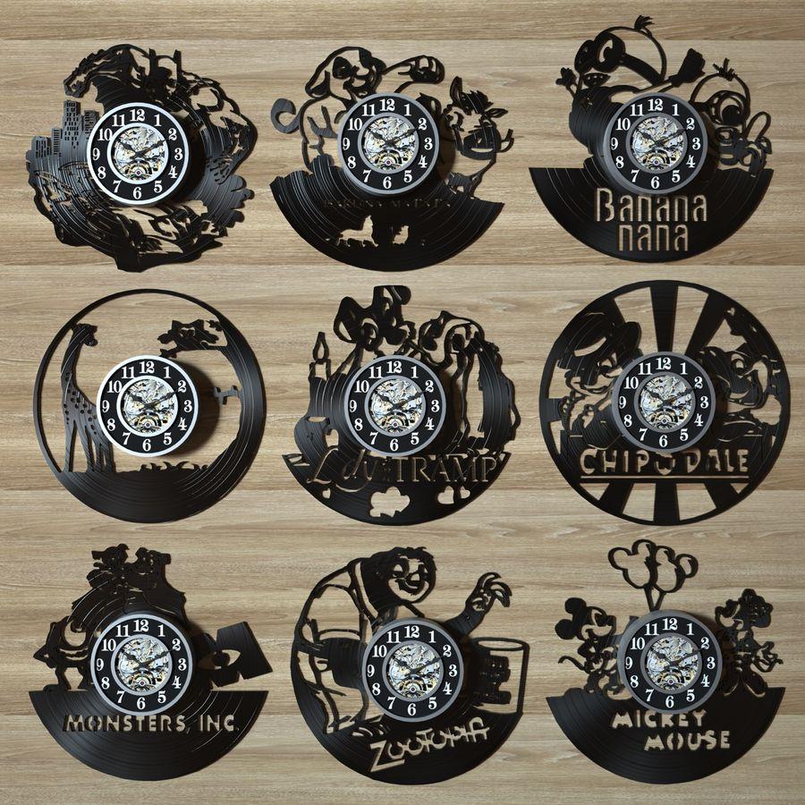 vinyl record clock royalty-free 3d model - Preview no. 1