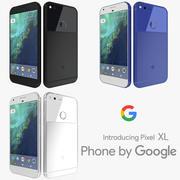 各种颜色的Google Pixel XL 3d model
