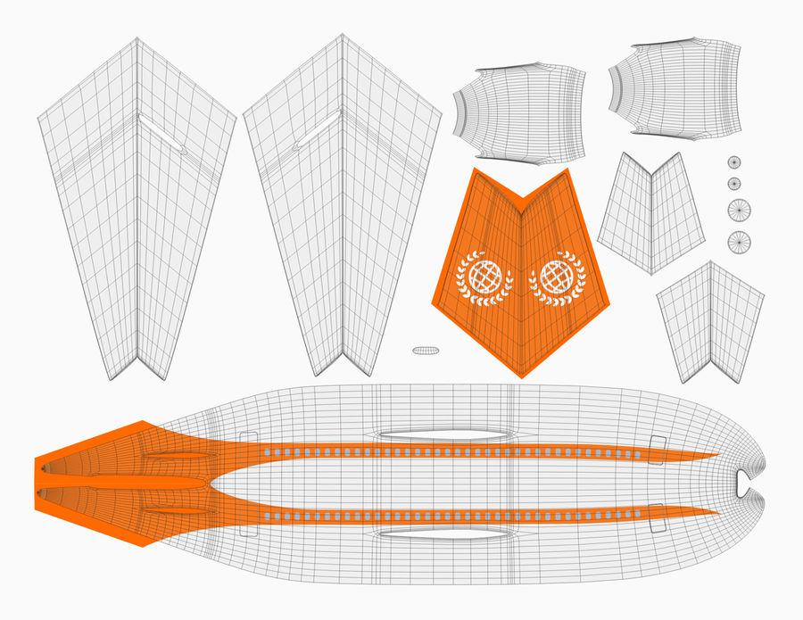 Modelo de mesa de um avião a jato royalty-free 3d model - Preview no. 2