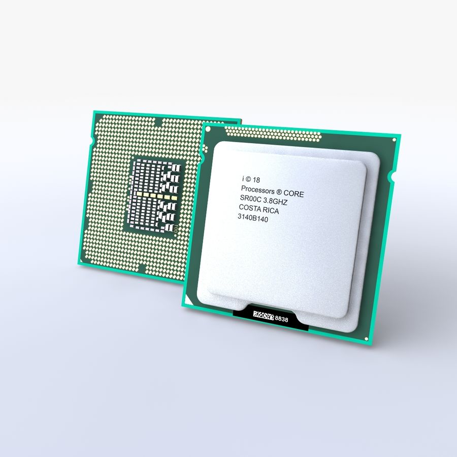 processor royalty-free 3d model - Preview no. 2