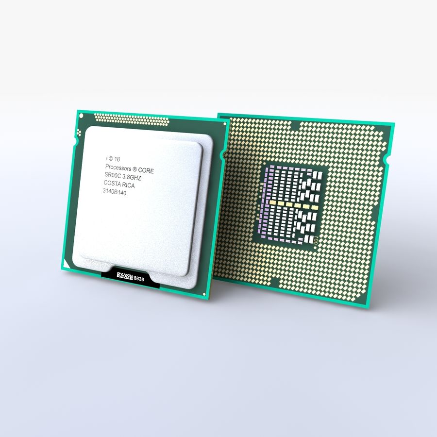 processor royalty-free 3d model - Preview no. 4