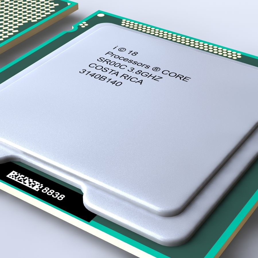 processor royalty-free 3d model - Preview no. 8