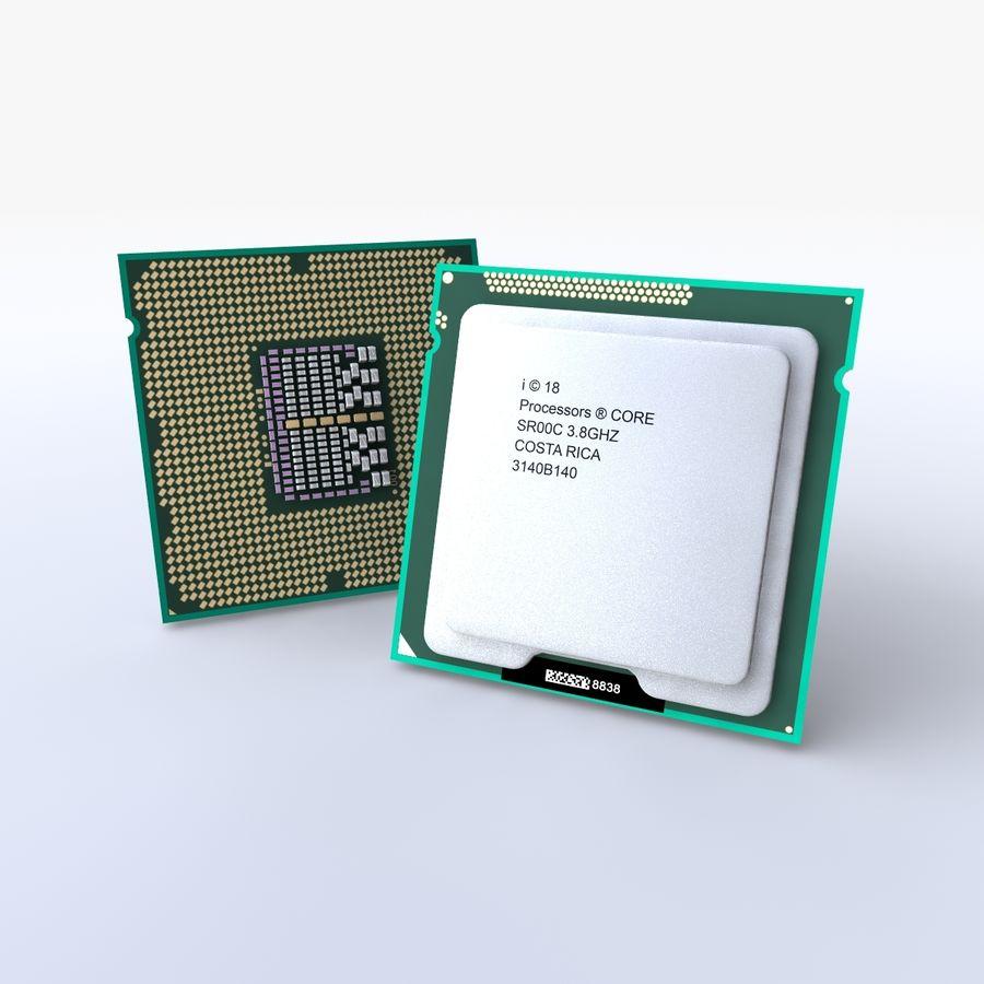 processor royalty-free 3d model - Preview no. 3
