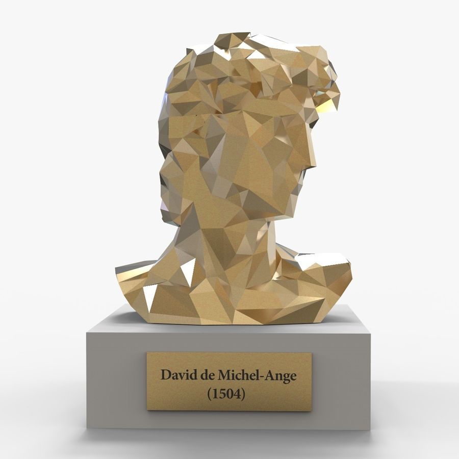 David Bust royalty-free 3d model - Preview no. 2