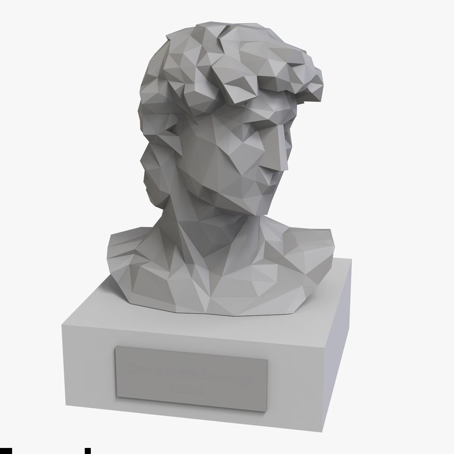 David Bust royalty-free 3d model - Preview no. 7