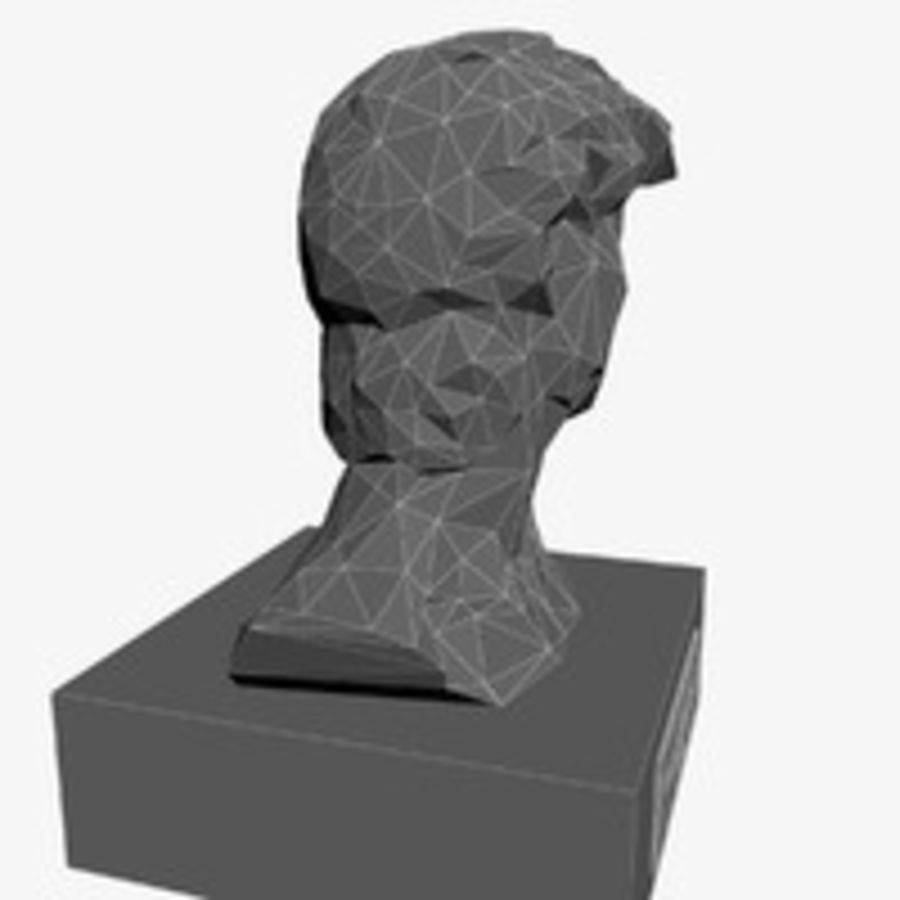 David Bust royalty-free 3d model - Preview no. 10