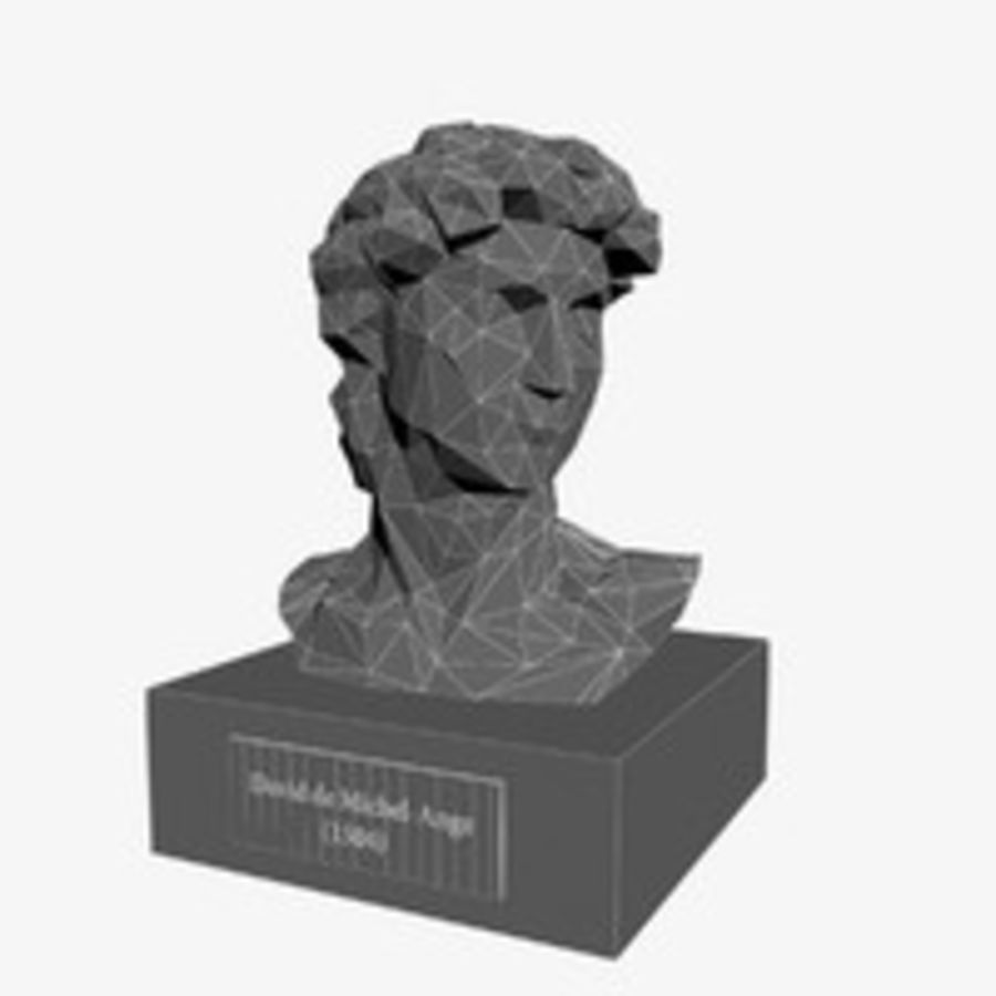 David Bust royalty-free 3d model - Preview no. 9