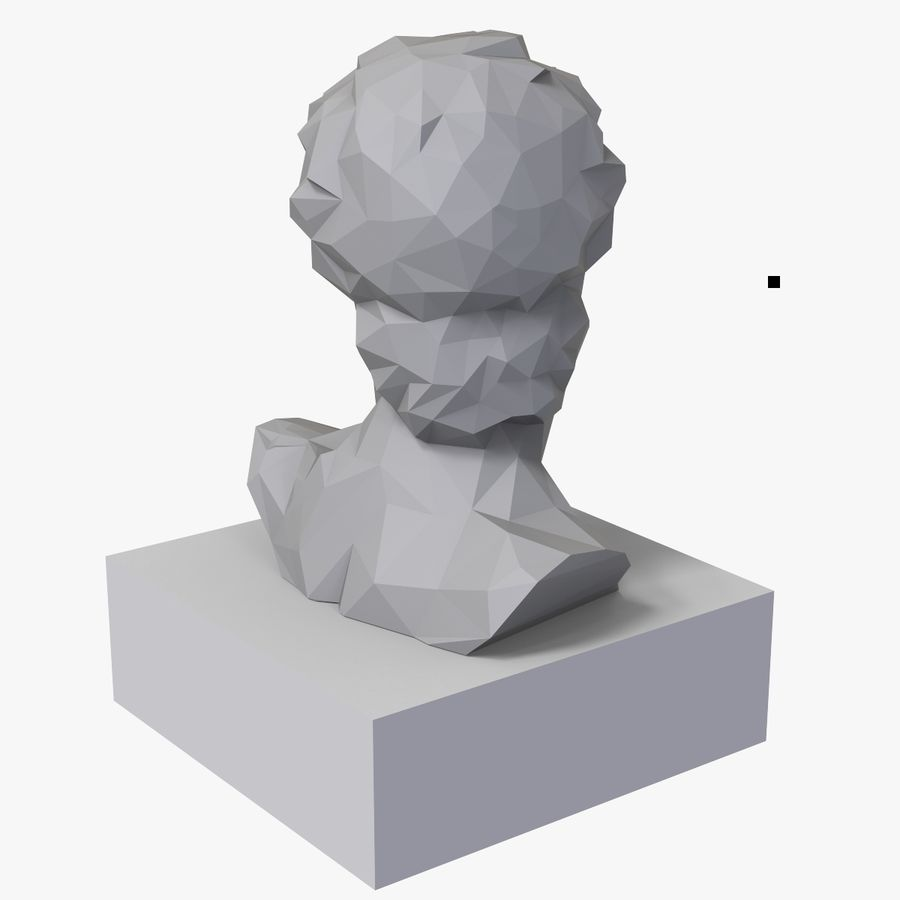 David Bust royalty-free 3d model - Preview no. 8
