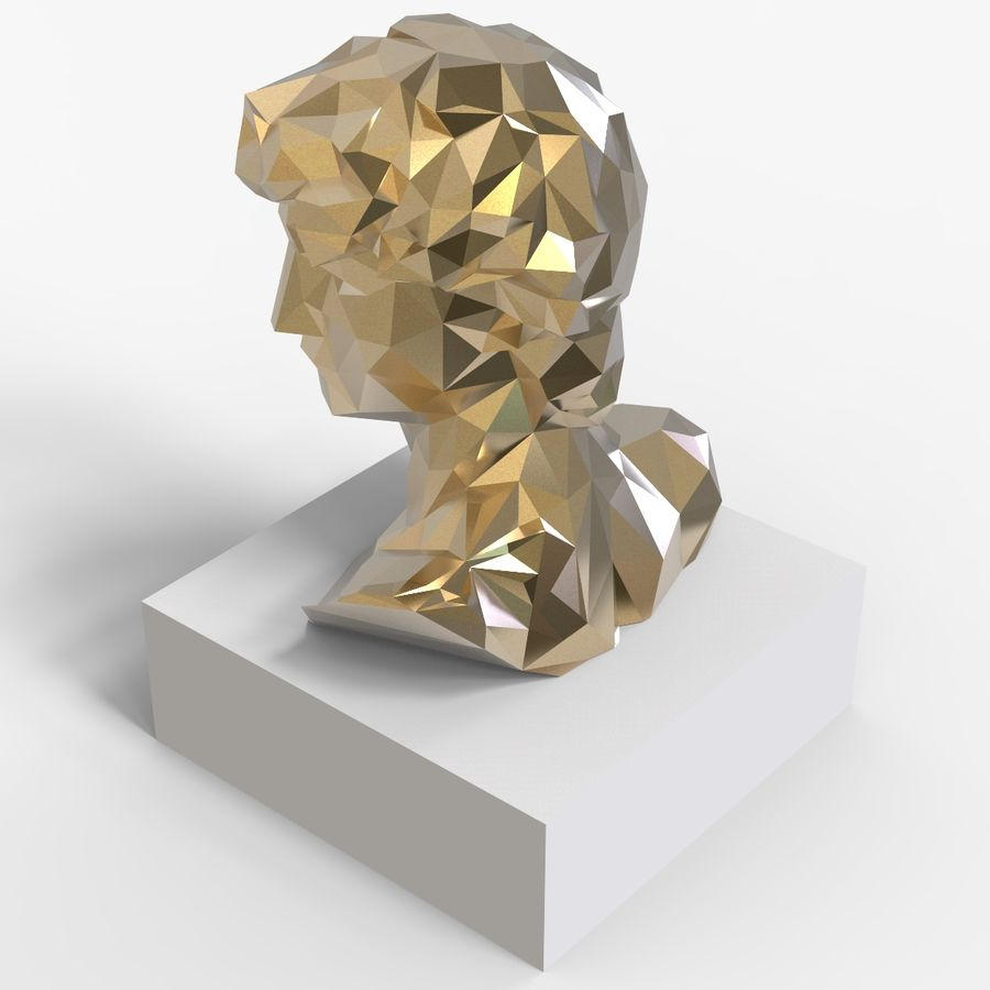 David Bust royalty-free 3d model - Preview no. 5