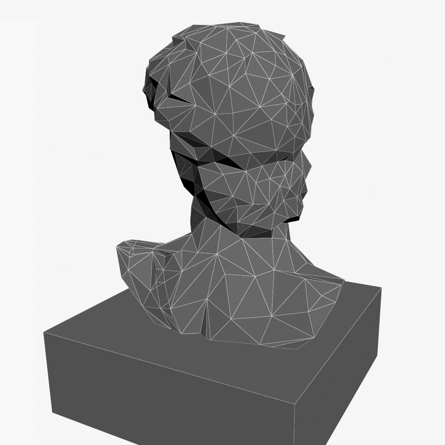 David Bust royalty-free 3d model - Preview no. 11