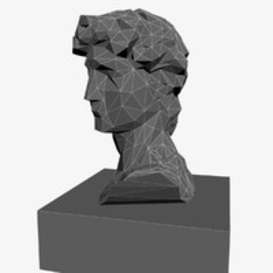 David Bust royalty-free 3d model - Preview no. 12