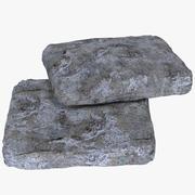 扁石形状 3d model