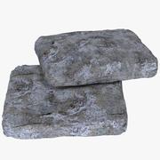 평평한 돌 모양 3d model