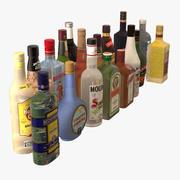 アルコール飲料のボトルコレクション 3d model