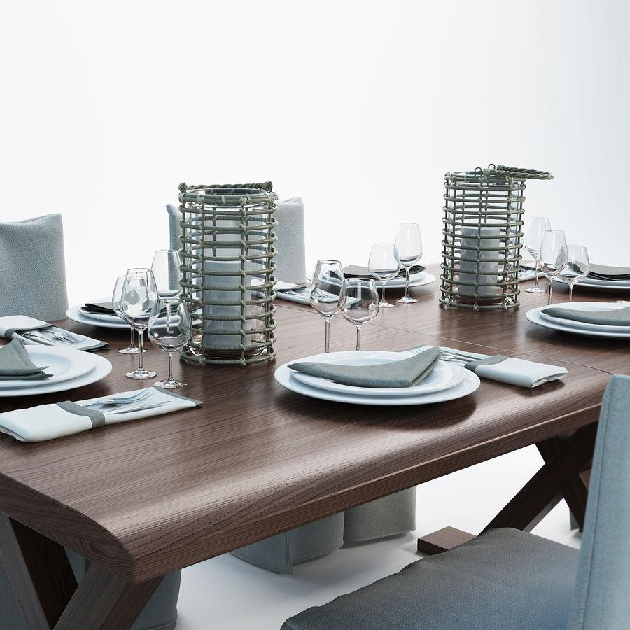 set da pranzo royalty-free 3d model - Preview no. 2