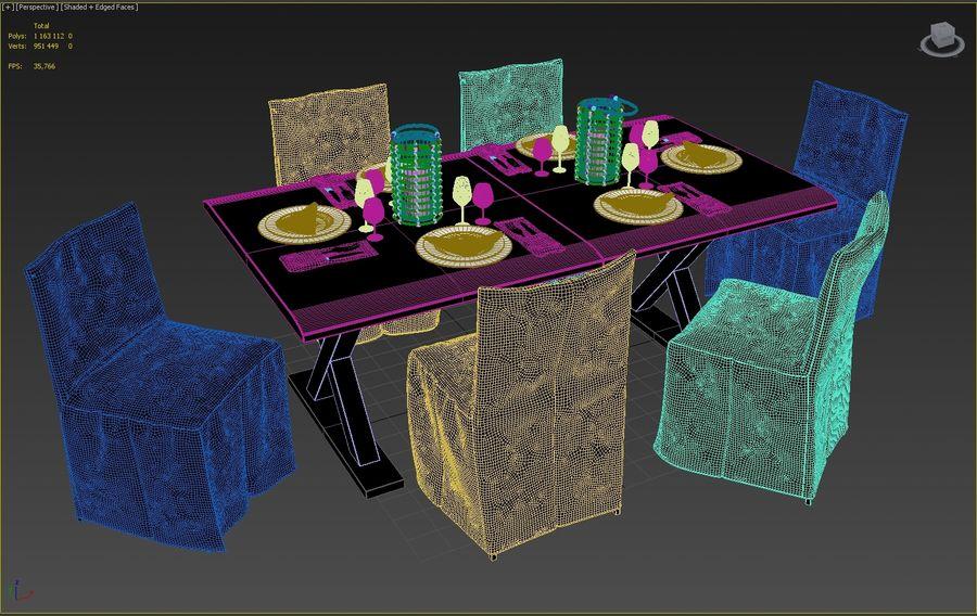 set da pranzo royalty-free 3d model - Preview no. 4