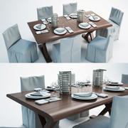 set da pranzo 3d model