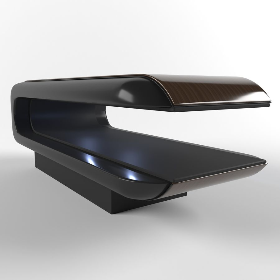 massage table square royalty-free 3d model - Preview no. 2