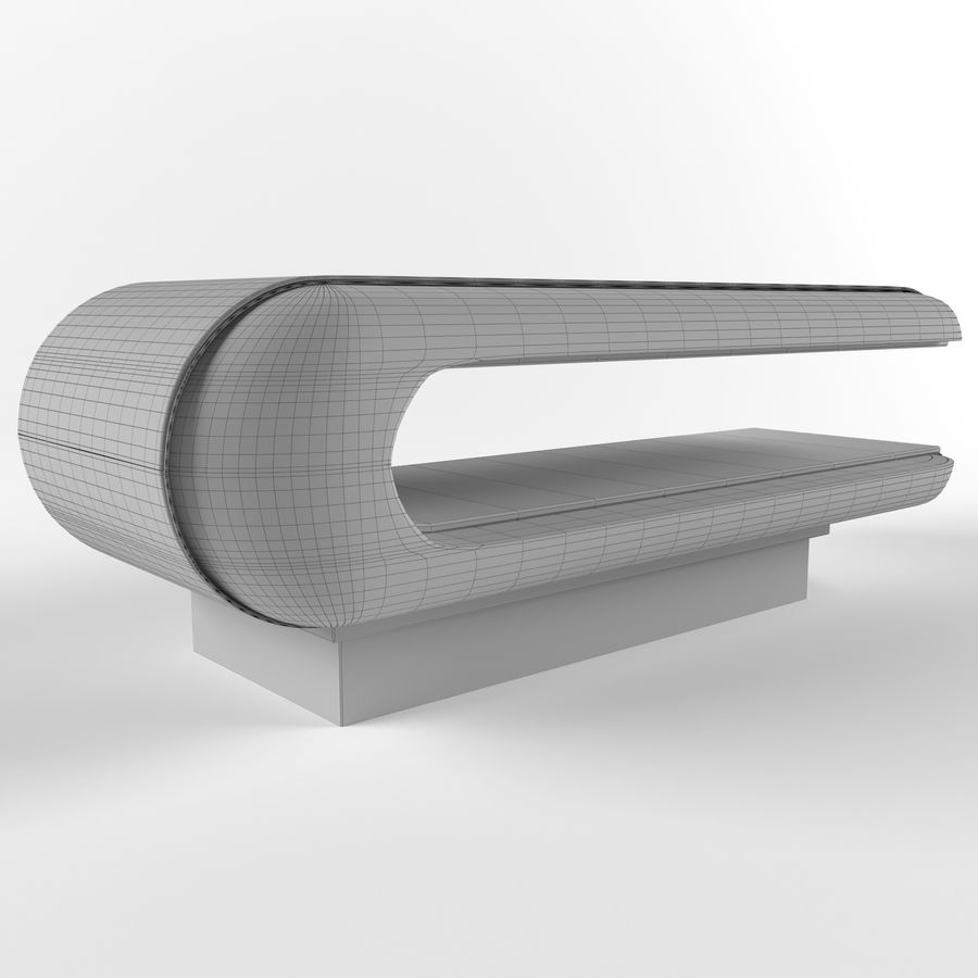 massage table square royalty-free 3d model - Preview no. 5