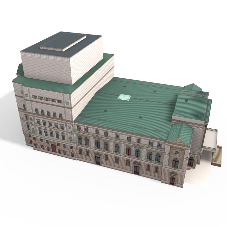 Die Staatsoper Prag royalty-free 3d model - Preview no. 6