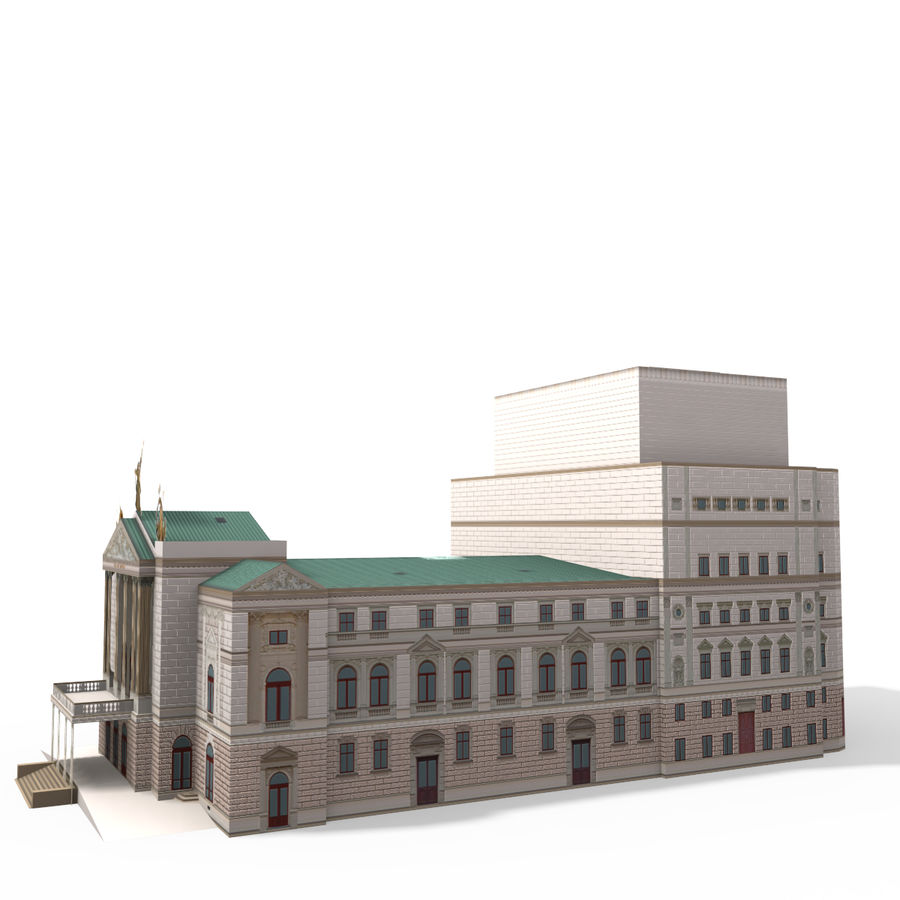 Die Staatsoper Prag royalty-free 3d model - Preview no. 3