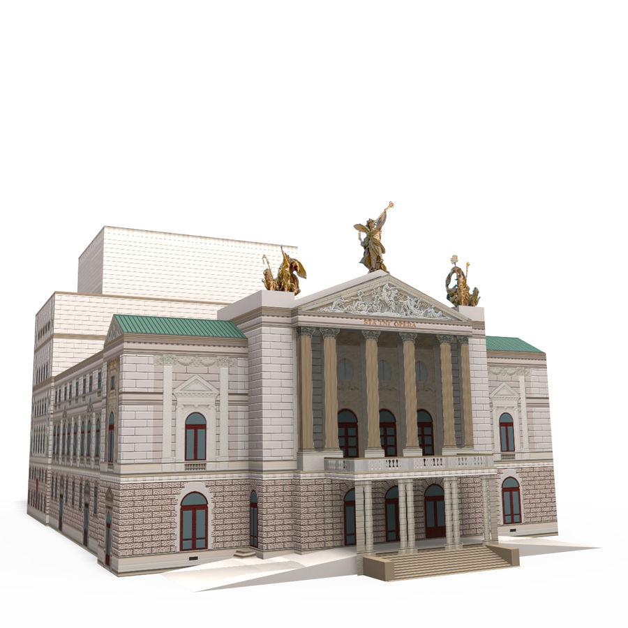 Die Staatsoper Prag royalty-free 3d model - Preview no. 1