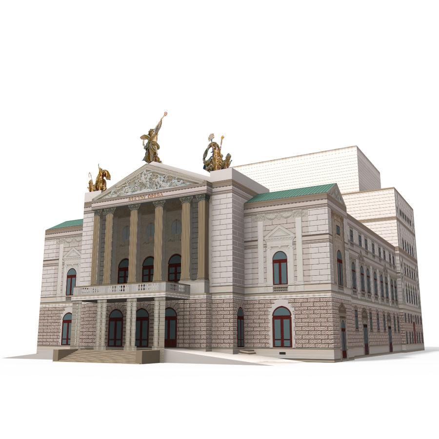 Die Staatsoper Prag royalty-free 3d model - Preview no. 2