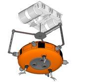 Miniere nucleari con argano 3d model