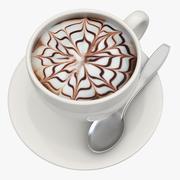 Varm chokladmjölk 3 3d model