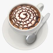 Горячее шоколадное молоко 4 3d model
