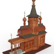 Iglesia abandonada modelo 3d