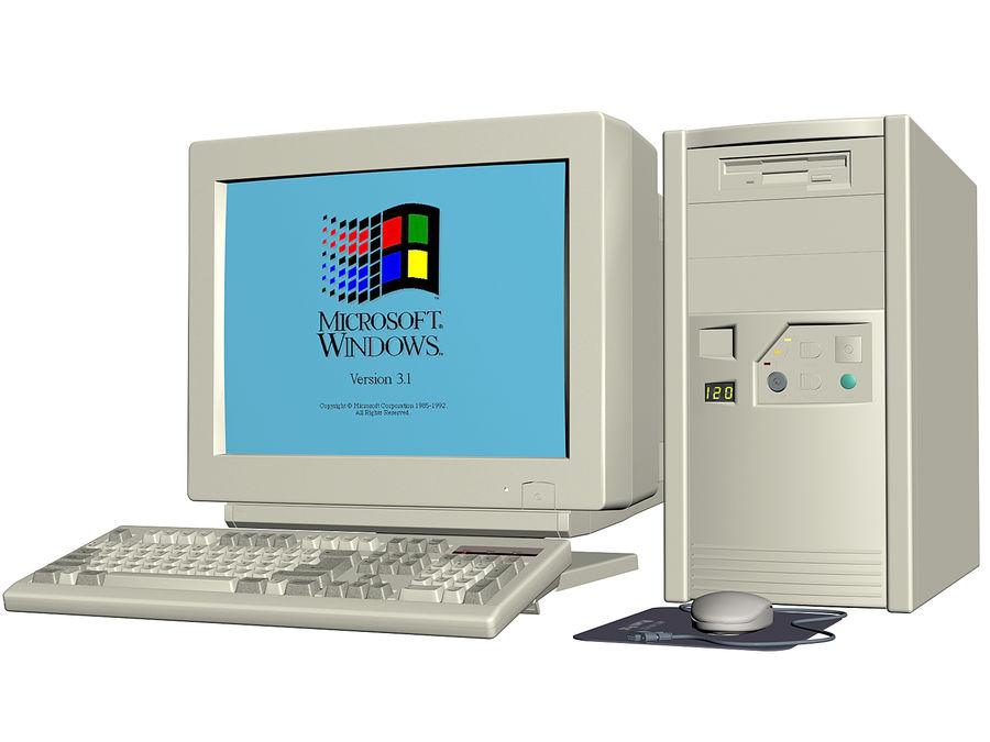 Gammal personlig dator för PC för vintage royalty-free 3d model - Preview no. 2