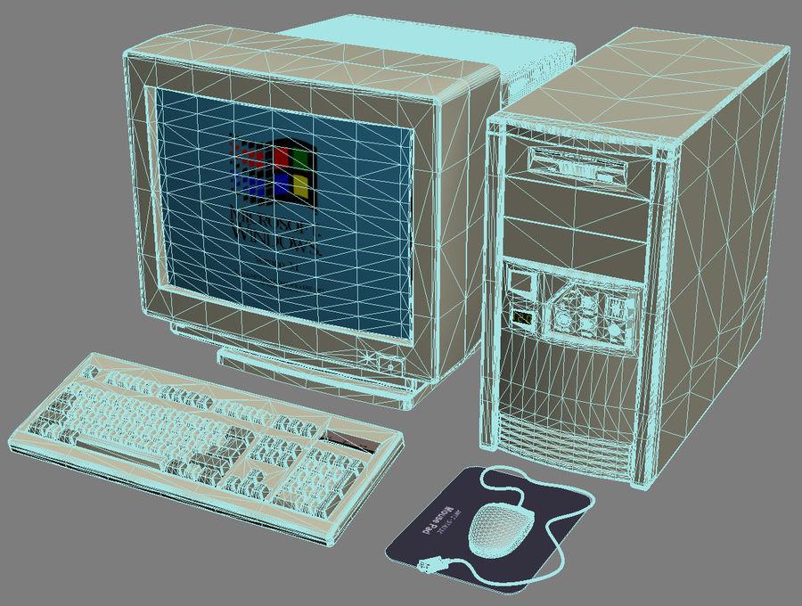Gammal personlig dator för PC för vintage royalty-free 3d model - Preview no. 8