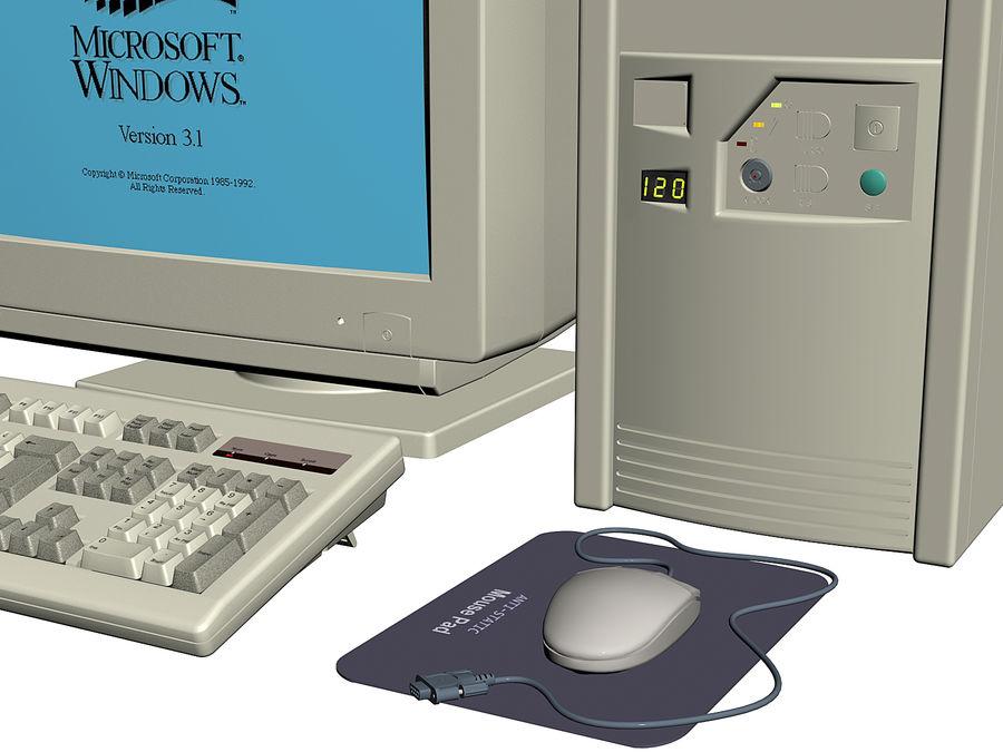 Gammal personlig dator för PC för vintage royalty-free 3d model - Preview no. 6