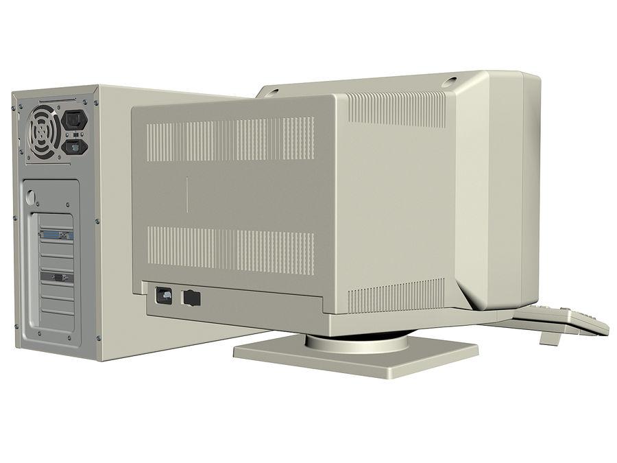 Gammal personlig dator för PC för vintage royalty-free 3d model - Preview no. 3