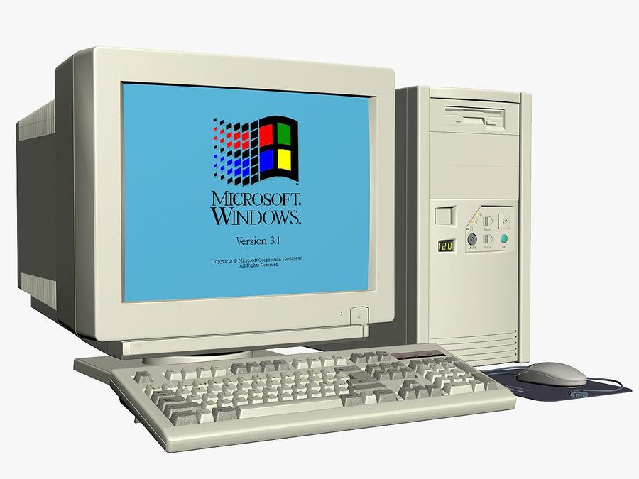 Gammal personlig dator för PC för vintage royalty-free 3d model - Preview no. 1